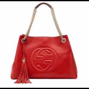 Gucci soho red shoulder bag